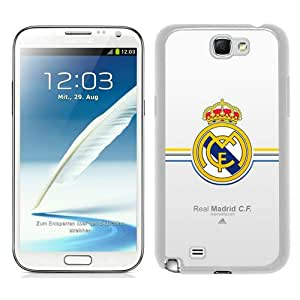 Fashionable Samsung Galaxy Note 2 N7100 Case ,Unique Designed With Real Madrid white Samsung Galaxy Note 2 N7100 Cover High Quality Phone Case