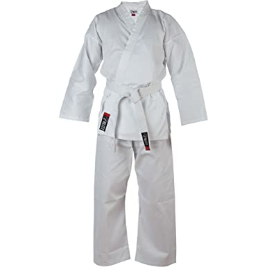 Blitz Sports Traje de Karate los Niños Estudiante - Blanco: Amazon ...