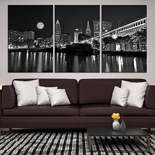 Amazoncom Cleveland Skyline Wall Art By Sami Eymur X Large 3