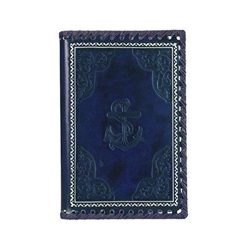 Eccolo 6 x 8 Inches Refillable Romance Journal, Blue Anchor