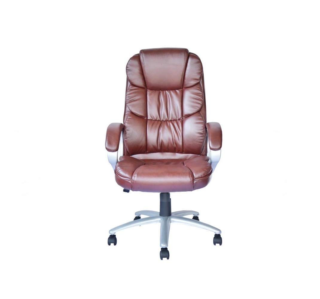 20''W PU Leather High Back Office Chair Adjustable Seat w/Armrest with Ebook