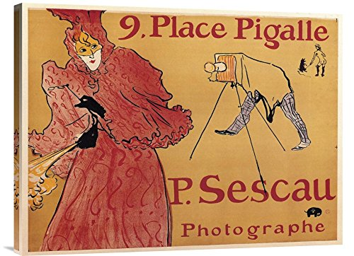 Global Gallery GCS-373468-30-142 Henri Toulouse-Lautrec The Photographer Paul Sescau Gallery Wrap Giclee on Canvas Wall Art Print ()