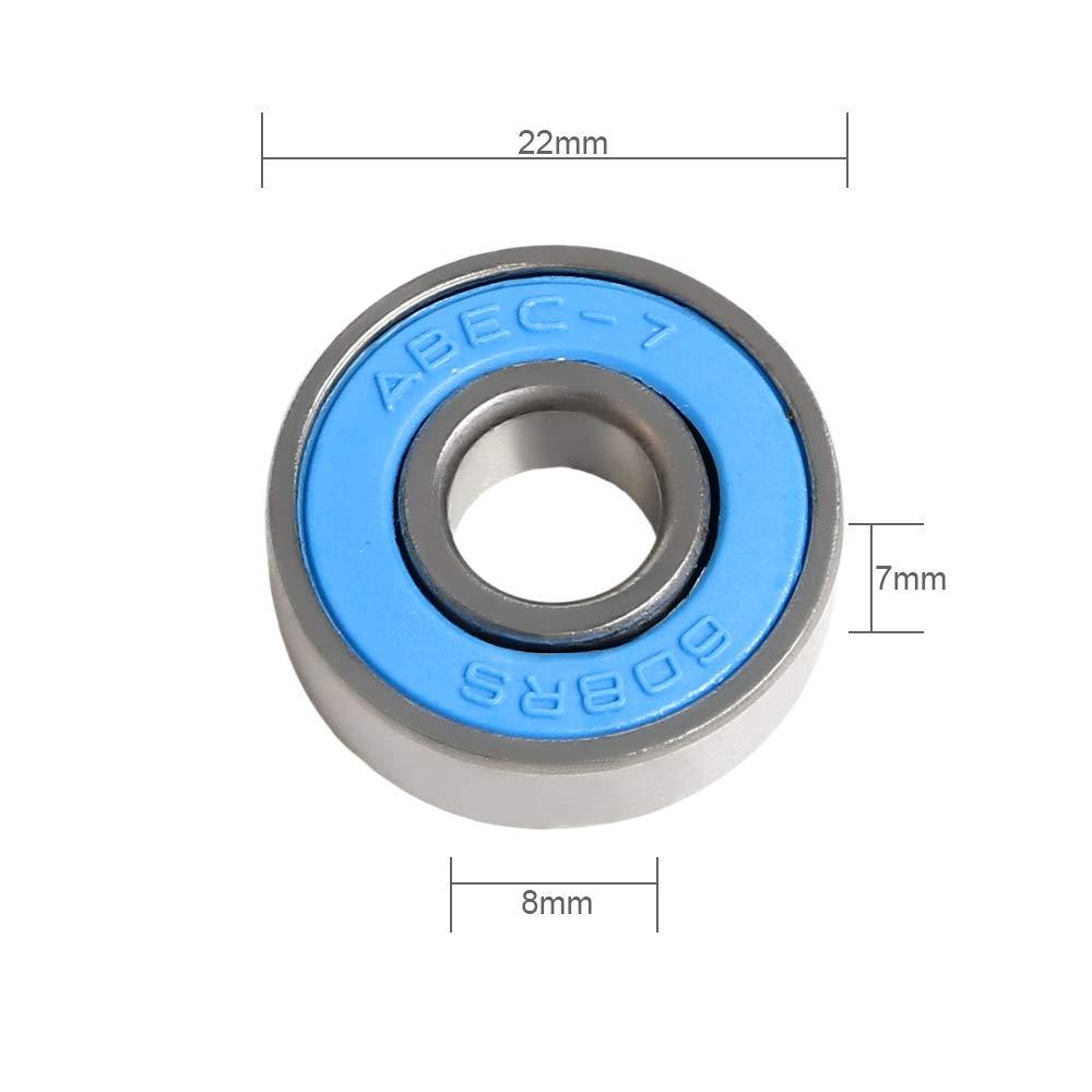 608-2rs ABEC 7 Deep Groove Ball Bearing 8 mm x 22 mm x 7 mm Roller Bearing Miniature Radial Ball Bearing Pack of 20