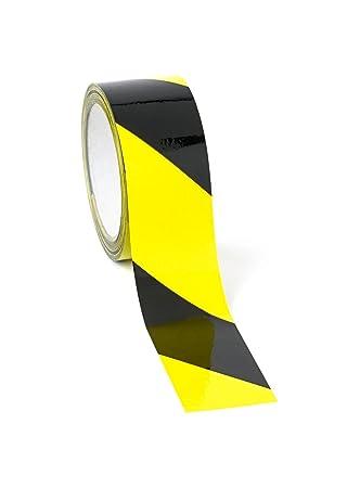Einzigartig Bodenmarkierungsband Klebeband in schwarz/gelb 50mm x 50m  UJ27