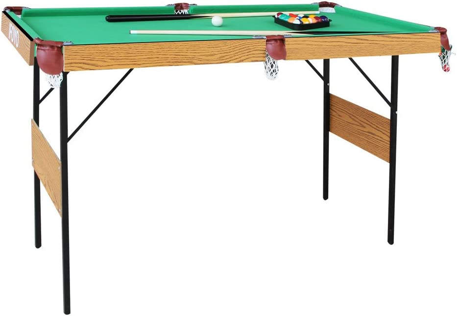 AIPINQI - Mesa de billar plegable de 55 pulgadas para niños y adultos con todos los accesorios incluidos, Verde: Amazon.es: Juguetes y juegos