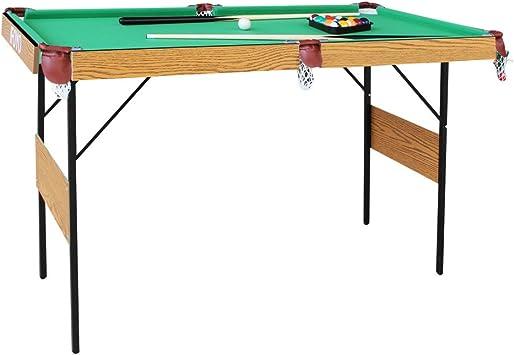 AIPINQI Mesa de billar plegable, 55 pulgadas mesa de billar para ...