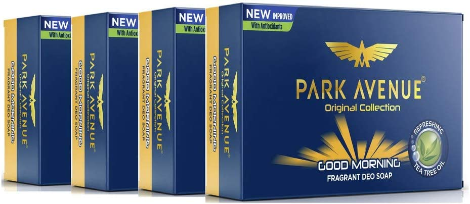 Park Avenue Good Morning Soap for Men, 125g (Pack of 4)  at Rs. 95