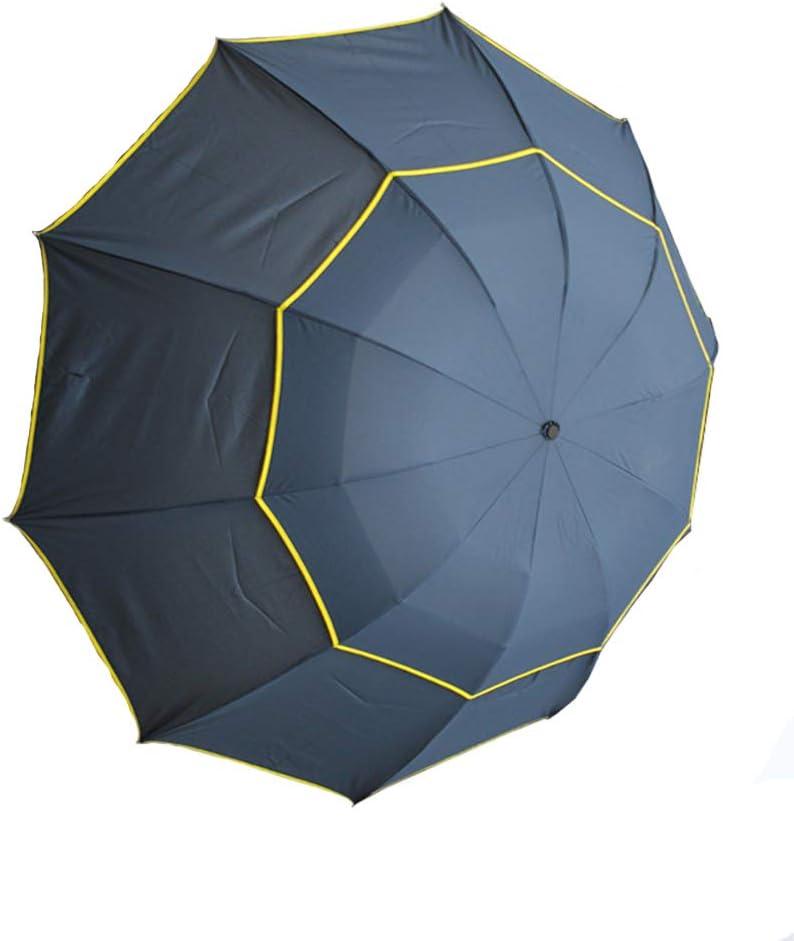 Paraguas de Golf: a Prueba de Viento, Resistente a la Lluvia, Anti UV, Secado rápido, Doble Capa, Tres Paraguas de Golf Plegables para Hombres y Mujeres, Cubiertas Extra Grandes para 2-3 Personas