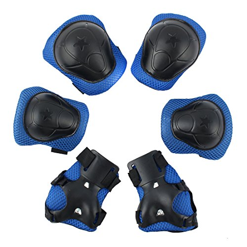 uxcell Bicycle Roller Blading Wrist Elbow Knee Support Prote
