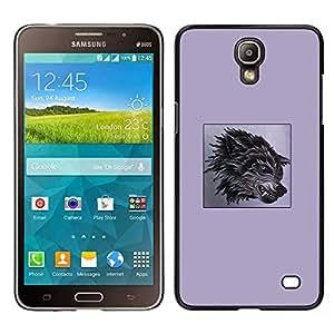 [Neutron-Star] Snap-on Series Teléfono Carcasa Funda Case Caso para Samsung Galaxy Mega 2 [Purple Fang Wolf Black Poster Dog Anger]
