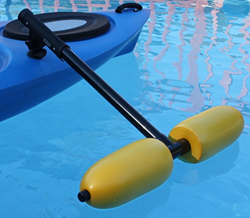 Kayak Outriggers / Stabilizers w/ YELLOW FLOATS