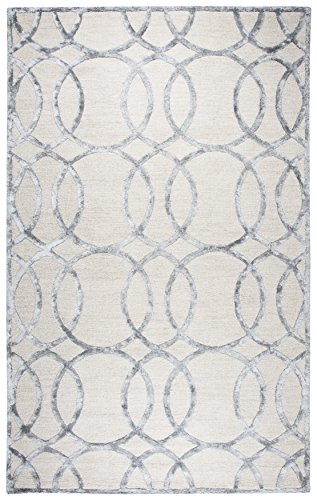 Rizzy Home Monroe Collection Hand-Tufted Area Rug, 9' x 12', Cream/Dk.Gray (Wool Carpet Padding)