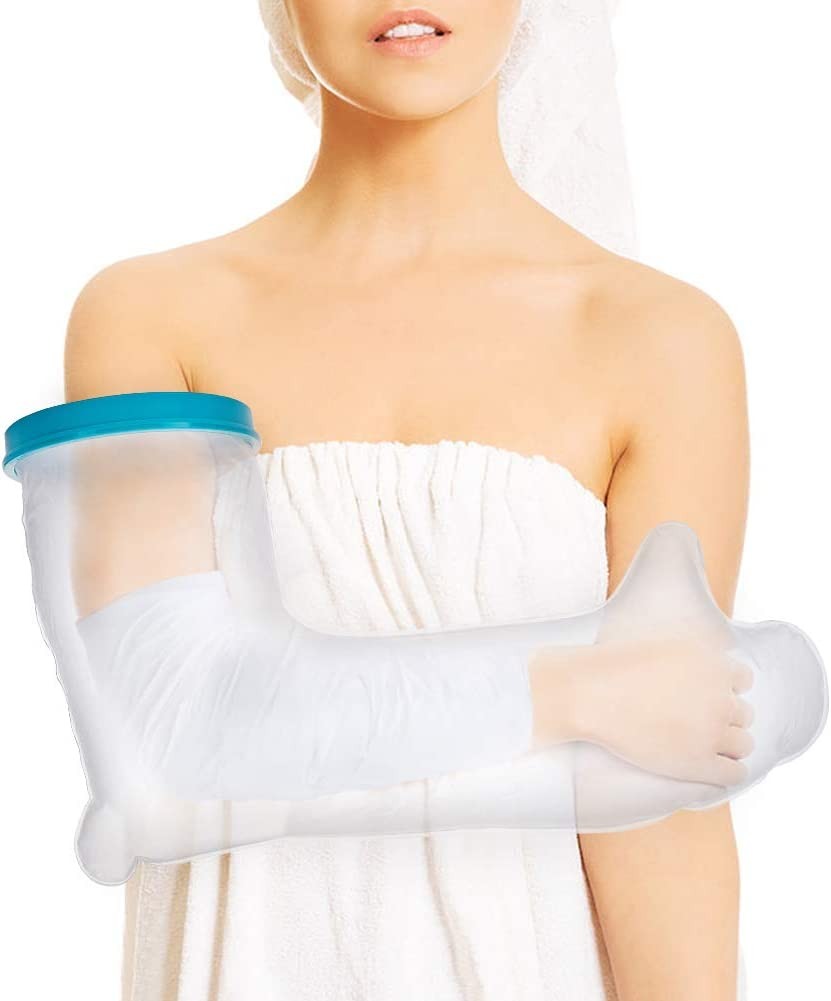 Cast Covers for Shower Arm, Adult Waterproof Full Arm Cast Protector for Wrap Broken Hand Injury, Wrist Wounds, Fingers Surgery, Bandage When Bathing Keep Dry with PVC Material (23.6 Inches): Health & Personal Care