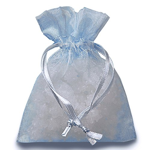 Light Blue Organza Bags 3 X 4 | Quantity: 30