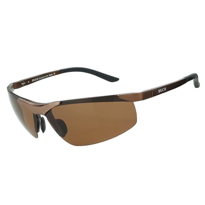 Duco Sport 6806S Gafas de sol polarizadas para hombre Braun, Braun