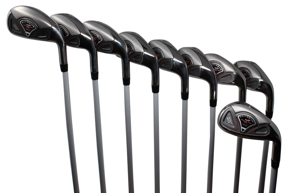 Extreme X7 High MOI Complete 9-Piece Men's Iron Set (3-SW) Right Handed Callaway Regular R Flex Graphite Shafts by Extreme X7
