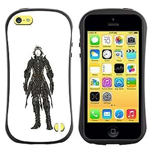 Suave TPU GEL Carcasa Funda Silicona Blando Estuche Caso de protección (para) Apple Iphone 5C / CECELL Phone case / / white black painting character hero /