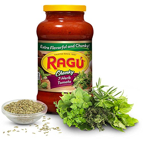 Unilever Bestfoods Ragu 7 Herb Tomato Robusto Sauce, 26 Ounce -- 12 per case. Robusto Case
