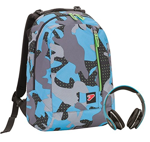 a4abb98c48 2 in 1 Zaino Reversibile SEVEN THE DOUBLE - COLOR CAMOUFLAGE - Blue - cuffie  stereo