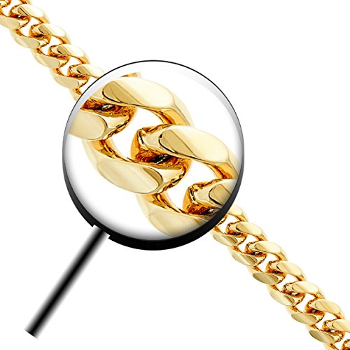 Lifetime Jewelry Cuban Link Bracelet 11MM, Round, 24K Gold Overlay Premium Fashion Jewelry, Guaranteed for Life, 9 Inches by Lifetime Jewelry (Image #3)