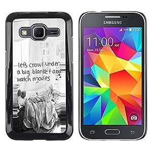 Be Good Phone Accessory // Dura Cáscara cubierta Protectora Caso Carcasa Funda de Protección para Samsung Galaxy Core Prime SM-G360 // Funny Quote Kids Movies Thriller Scary