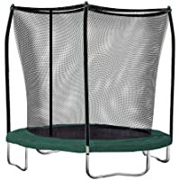Skywalker Trampolines 8-Feet Round Trampoline with Enclosure (Green)