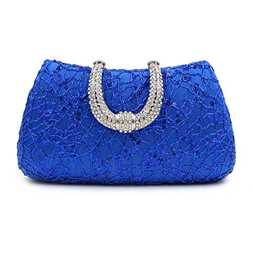 Bag Bleu pour Evening femme SSMK Pochette qz8wxaFUR