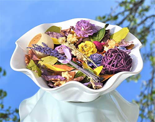 Manu Home Fresh Lavender Potpourri Bag ~ 10oz Bag with Beautiful Botanicals & Pods ~ Perfect Home Decor for Any time of The Year~ Proudly Hand Made in USA