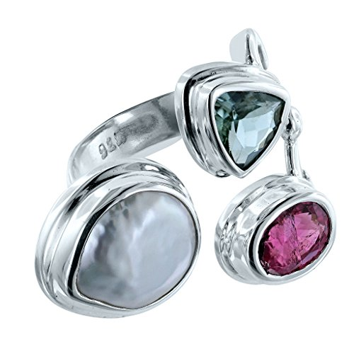 Pearl Tourmaline Ring (Bali RoManse by Robert Manse Designs Odyssey Ring with Pearl and Tourmaline (7))
