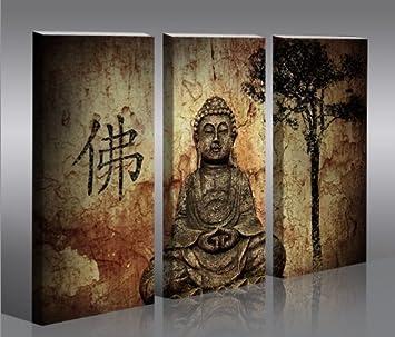 gallery of psart tableau sur toile bouddha en parties x cm ...
