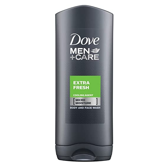 Dove for Men Extra Fresh Body and Face Wash, 400 ml Make-up & Nails at amazon