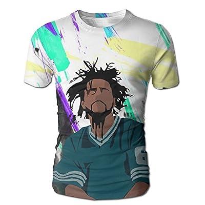 XINSHOU J Cole Men's 3D All Print Short Sleeve Tshirt