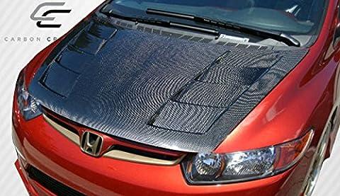 2006-2011 Honda Civic 2DR Carbon Creations Circuit Hood - 1 Piece - Honda Civic 2dr Carbon