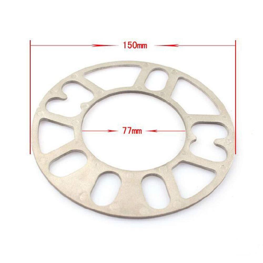 5//8//10 thick 5 mm Rad Distanzscheiben 12mm Dicke Universal Rad Distanzscheiben 4Pcs Aluminiumlegierung 4 und 5 Lug3