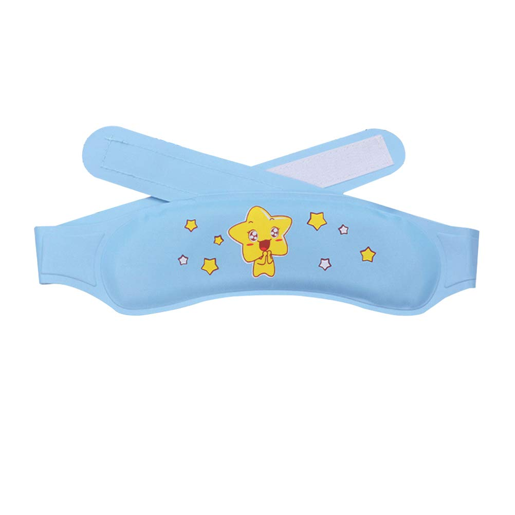 Cooling Pad 1pcs Physical Cooling Gel Patches Forehead Strips Relieve Fatigue Sunstroke Pads for Kids Children (Blue) by Heallily