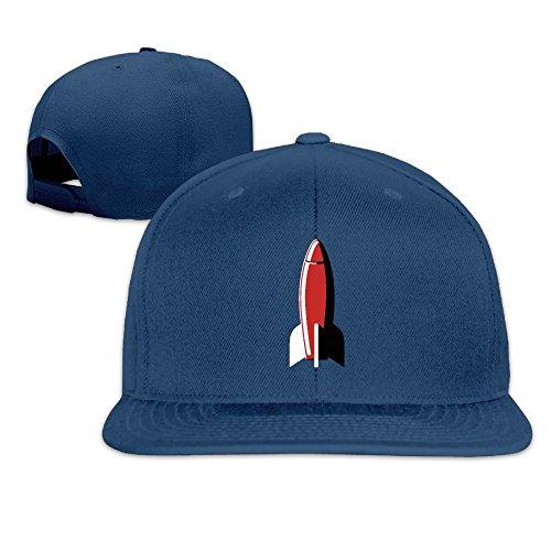 Rocket Graphic Plain Adjustable Snapback Hats Men's Women's Baseball Caps