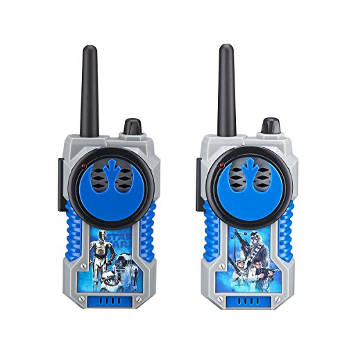 Star Wars Character  FRS Walkie Talkies Durable Kid Friendy Static Free -