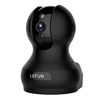 Lefun Wireless IP Surveillance Camera Nanny Cam Baby Monitor with Pan Tilt  Remote Motion Detect Two Way Audio and Night Vision for Home/Shop Security,
