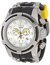 Invicta Men's 14073 Bolt Reserve Chronograph Silver Dial Black Polyurethane Watch