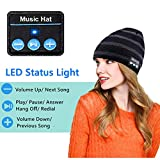 Bluetooth Beanie Hat, Wireless Music Cap with HD