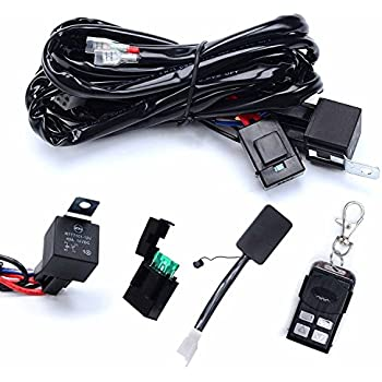 51kimXzAuYL._SL500_AC_SS350_ amazon com opt7� 12 gauge 500w dual wiring harness w switch for  at soozxer.org