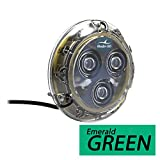 Bluefin LED Piranha P3 Surface Mount Underwater LED Light - 1100 Lumens - Emerald Green