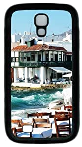 Cool Painting Mykonos PC Silicone Case Cover for Samsung Galaxy S4/I9500