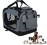 WOLTU Folding Pet Carrier Soft Dog Crate Pet Home for Indoor/Outdoor Use,Grey, PC05gryS4