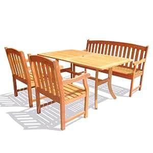 Outdoor Rectangular Curvy Dining Set 26