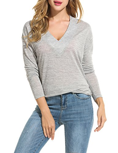 Buy grey v neck sweater with dress shirt - 6