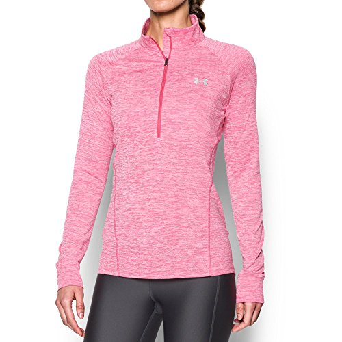Under Armour Women's Tech 1/2 Zip Twist, Pink Sky/Knock Out, X-Small (Sleeve Womens Knockout Long)