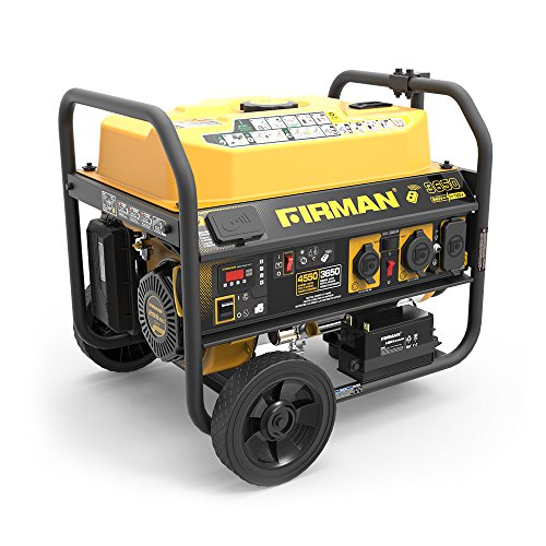 Firman P03612 4550 3650 Watt 120 240V Remote Start Gas Portable Generator cETL Certified, Black