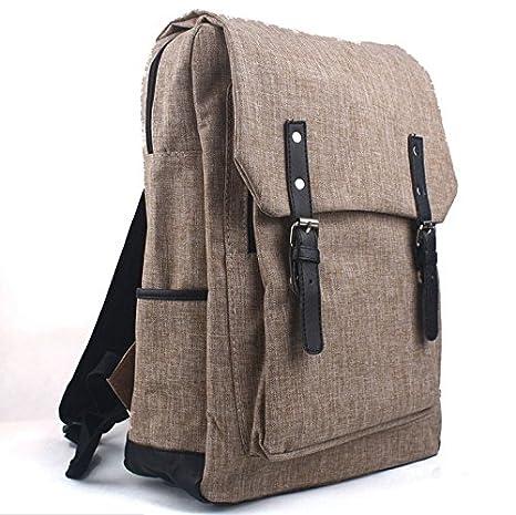 Hosaire Mochilas Moda Nueva Capacidad Grandes Deportes Mochilas Laptop Bolsa Lienzo Al aire libre Caminando Mochila