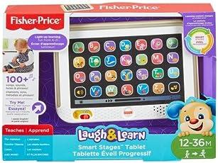 Fisher-Price Ríe y Aprende Tablet de Aprendizaje Crece Conmigo, Color Gris